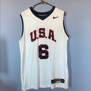 Nike Authentic USA Lebron James Jersey